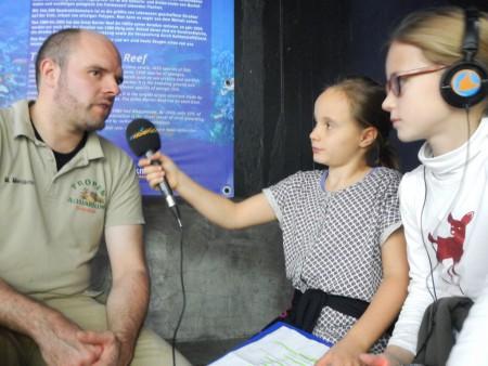 Die Radiofüchse mit dem Meeresbiologen Marian Merckens
