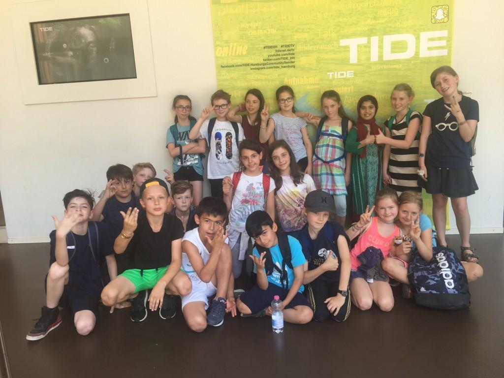 Klasse 4d der Grundschule Thadenstraße